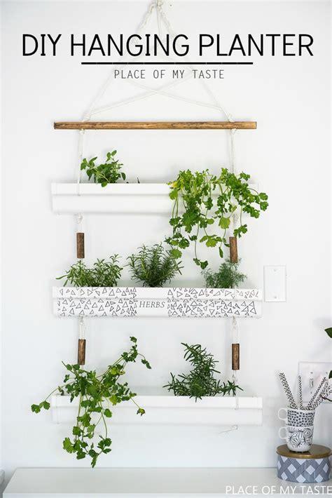 herb planter diy diy gutter hanging planter