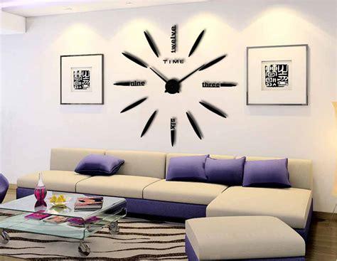 Jam Dinding Diy Angka Romawi 30 60 Cm jam dinding besar diy 80 130cm diameter elet00661 black jakartanotebook