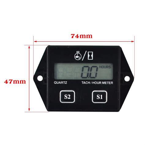 Rpm Meter Digital Tachometer I Max Brt Original 1 digital engine tach hour meter tachometer engine rpm lcd display for motorcycle motor