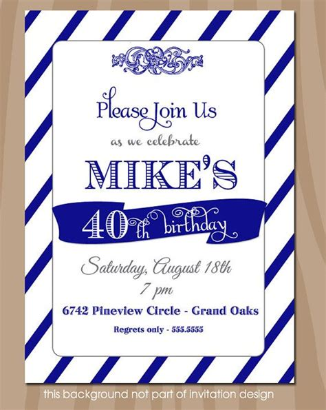 quot sweet surprises quot birthday printable card blue 17 best images about invitation ideas on pinterest