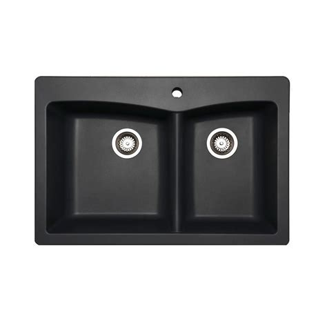 Pegasus Kitchen Sinks Upc 747943030908 Pegasus Kitchen Saratoga Dual Mount Composite 33x22x9 1 Bowl