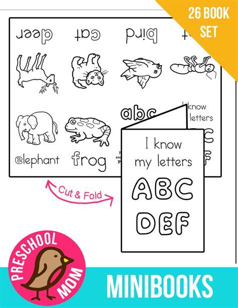 printable alphabet mini books preschool alphabet minibooks