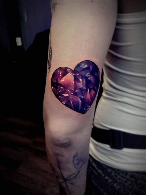 diamond heart tattoo and