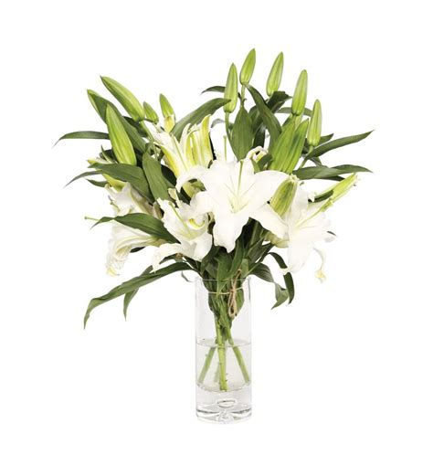 Lilies In A Vase by Lilies In Vase Flower Vase Flower With Vase