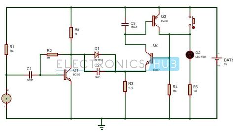 led circuits diagrams puff to led lights circuit working and applications