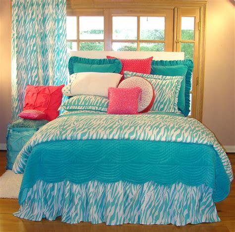 tween teen bedding turquoise zebra teen bedding