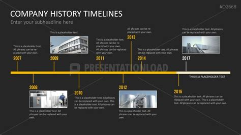 Powerpoint Layout Geschichte   powerpoint timeline template for company histories