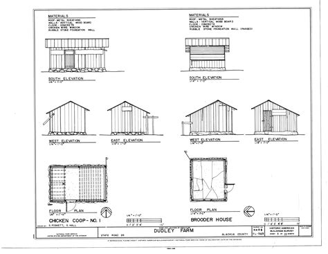 Housing Blueprints Floor Plans file chicken coop no 1 and brooder house elevations and