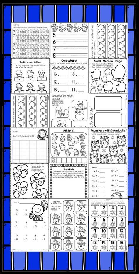 kindergarten activities january january and winter kindergarten math activities and