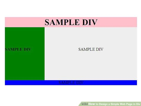 design basic html page how to design a simple web page in div 3 steps with