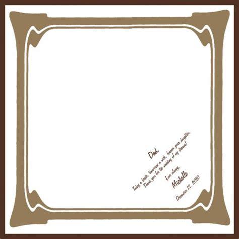 Modern Wedding Border by Fabric Scroll Handkerchief Wedding Invitations By Artful