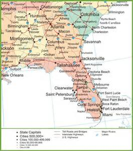 florida alabama map map of alabama and florida