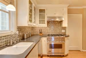 brick backsplash tiles kitchen traditional with beige cabinets look wall orange tile