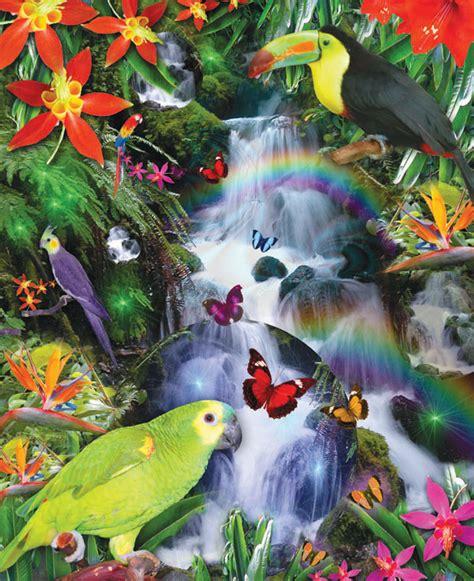 rainbow rainforest jigsaw puzzle puzzlewarehousecom