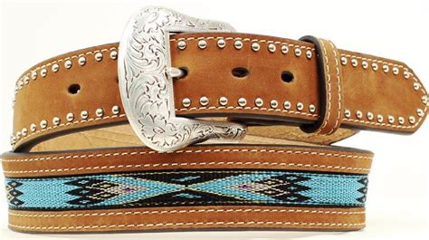 mfwn2476444 s western turquoise beaded belt 1 1 2 wide