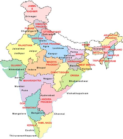 india map with cities maps of india india map india city map detailed map of