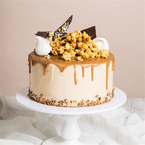 Small Shower Ideas by Caramel Cascade Drip Cake