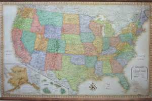 us map rand mcnally usa wall map made by rand mcnally in classic style