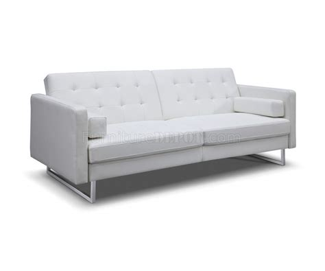 giovanni leather sofa giovanni sofa bed in gray faux leather by whiteline
