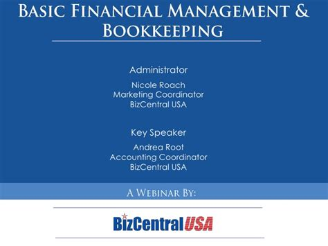 Finance Basics For Mba by Basic Financial Management For Small Businesses