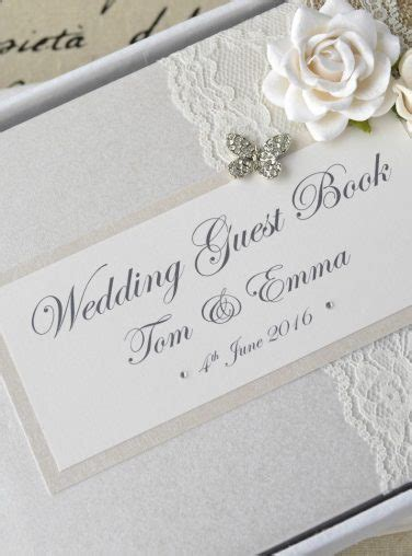Wedding Album Guest Book by Creative Bridal Personalised Wedding Guest Books And