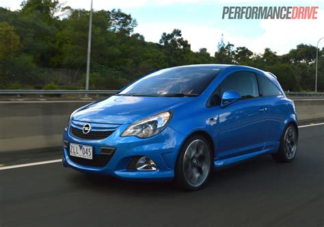 opel blue 2013 opel corsa opc review video performancedrive
