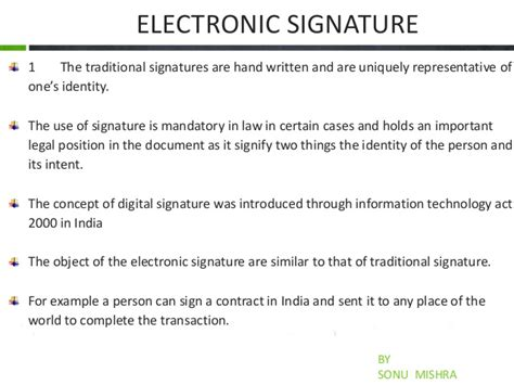 Electronic Signature Electronic Signature Policy Template