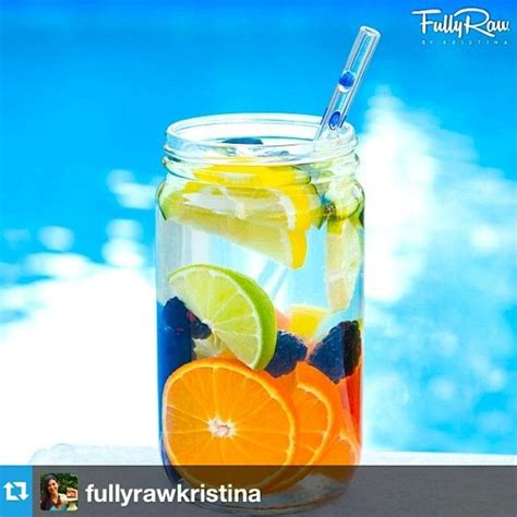 Fullyrawkristina On Detoxing by Fully Is At It Again Infused Water And A