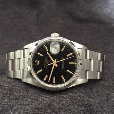 Jam Tangan Rolex Oyster Perpetual Black Silver jual beli tukar tambah service jam tangan mewah arloji original buy sell trade in service