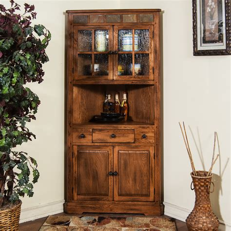 rustic corner china cabinet china cabinet solving storage issues homesfeed
