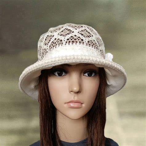 cloche sun hats womens linen hats cotton summer by