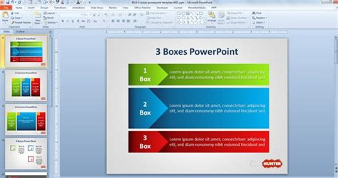 download design layout powerpoint 2010 free three boxes powerpoint template