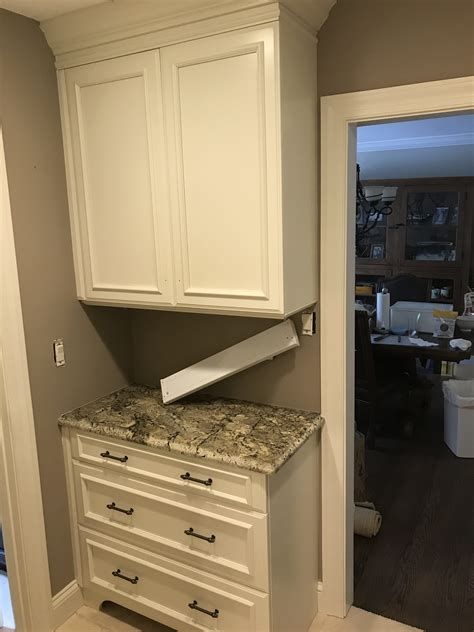 refinished cabinets  modern clean white complete