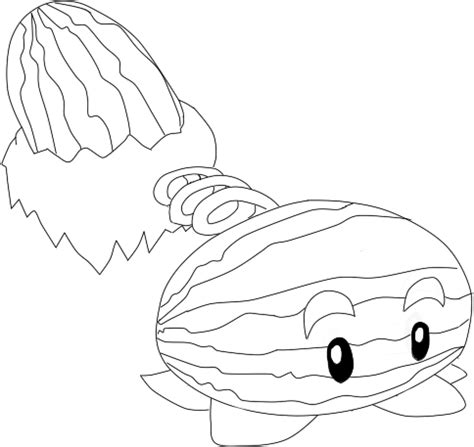 Winter Melon Coloring Page | winter melon pvz by toffeez435 on deviantart kid stuff