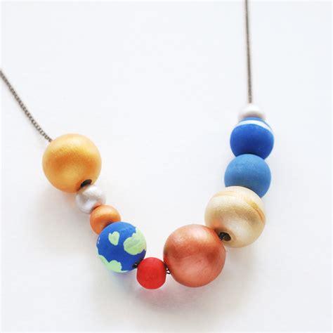 planet bead make a stellar solar system necklace handmade