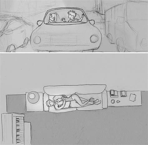 365 Sketches Drawings by Husband Illustrated Every Single Day He Spent With His