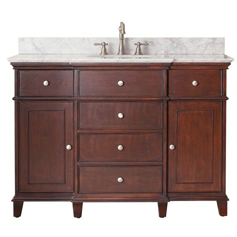 avanity 48 quot traditional single sink bathroom