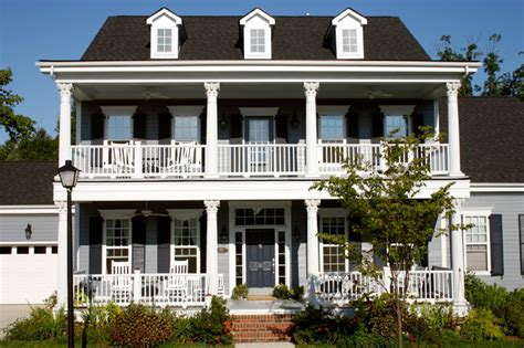 double porch house plans the owens model at old davidson traditional exterior