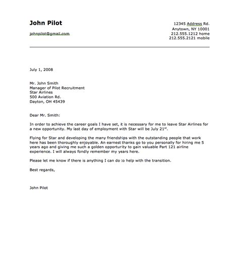 Cover Letter Exle Pilot Sle Of Airline Pilot Resignation Letter Resumes Design