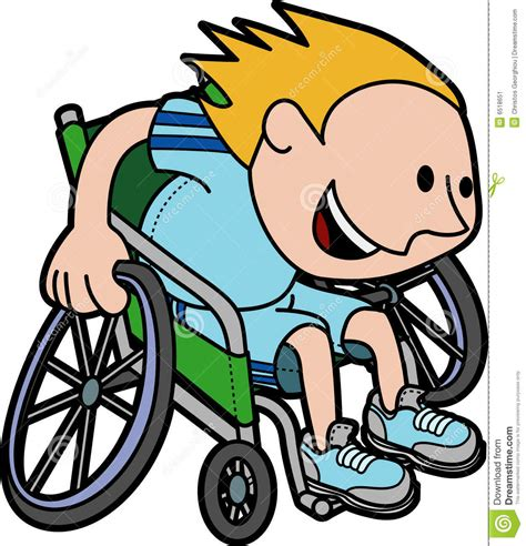 scienziato sedia a rotelle illustrazione ragazzo che corre in sedia a rotelle
