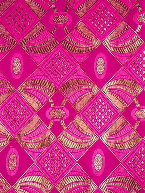pattern fabric pink african fabric sego headtie 2 yards 100 cotton fuchsia