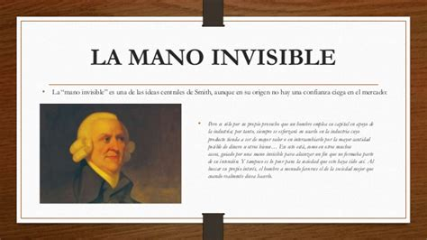 la mano invisible spanish adam smith