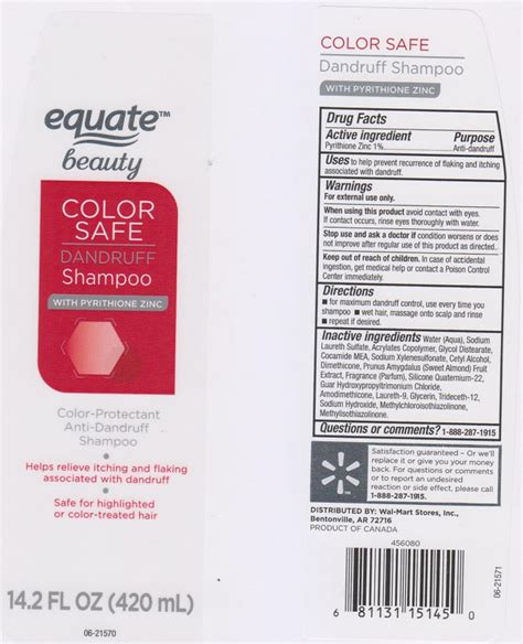 Shoo Zinc dailymed equate color safe dandruff pyrithione