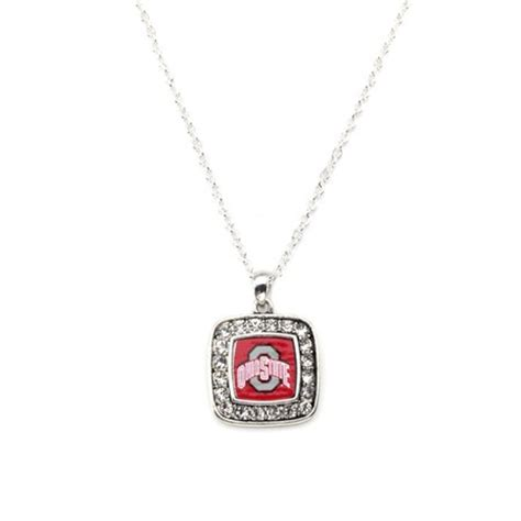 the ohio state buckeyes classic charm necklace inspired