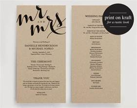 diy wedding programs templates free wedding program printable template printable program