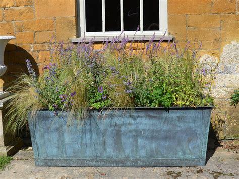 the rectangular copper garden planter large wide