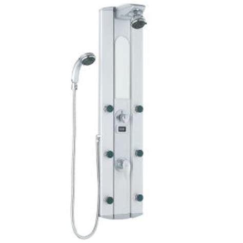 Vigo Shower Panel by Vigo 6 Jet Shower Panel System In Satin Vg08006 The Home