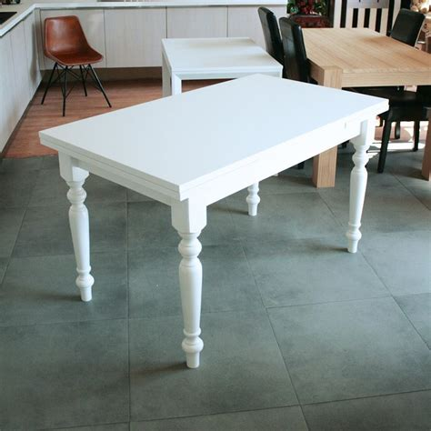 tavolo shabby tavolo allungabile in legno gambe tornite shabby chic