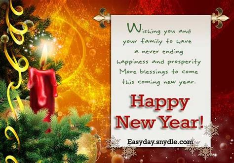 wishing u happy new year wishing you and your family to a never ending happy new year pictures photos and images