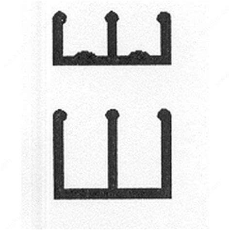 Sliding Cabinet Door Track Plastic Plastic Track For 1 4 Quot Sliding Doors Richelieu Hardware